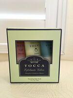 TOCCA Nourishing Body Scrub Exfoliate Skin Travel Trio Paraben Free 3 tubes SET