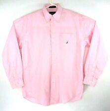 Nautica Vintage Oxford Men's Size 16 34/35 Pink Cotton Long Sleeve Shirt  EUC