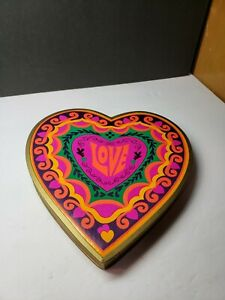 COOL VINTAGE 1960S VALENTINES DAY HEART CANDY BOX RETRO OP ART