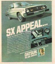 1978 Datsun 200 SX Car Vtg Print Ad