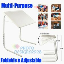 Foldable Table Adjustable Tray Portable Folding Laptop Desk TV Dinner Bed Mate