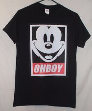 Oh Boy Mickey Mouse T Shirt Size S Cartoon Character Smiley Face