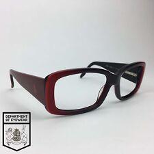 RALPH LAUREN RED+BLACK TWO TONE RECTANGLE EYEGLASS Authentic MOD: RL 1518/S
