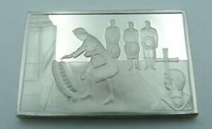 925 Solid Silver Ingot - 'Remembrance Sunday' - Cenotaph - World War II - 1975