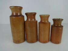 More details for antique ink bottles graduating size original doulton lambeth interior design x4