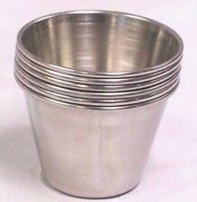 New listing (48 Ea) 2.5 Oz Stainless Steel Sauce Cup Ramekin Souffle Bullet Heavy Dressing