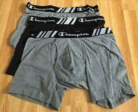 """3 X Champion ELITE Everyday Fit Men's Boxer Briefs BLACK / GREY size L 36"""" - 38"""""""