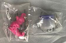 Tupperware Keychain Lot Pink Fern Fun Flyer & Blue Mix-N-Store Plus Pitcher NEW