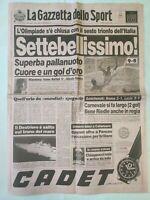 GAZZETTA DELLO SPORT 10-8-1992 ITALIA SETTEBELLO PALLANUOTO VINCE OLIMPIADI 92