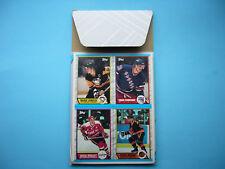 1989/90 TOPPS EMPTY BOX BOTTOM HOCKEY CARD PANEL MARIO LEMIEUX TOMAS SANDSTROM