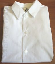 NEW BOY Basic White Shirt FLAT Collar(Kids Sz 7),Wedding/Party/School Uniform