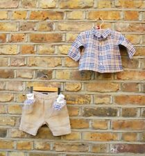 Burberry London Baby Boy 3 Piece Outfit Nova Check Shirt Trousers Boots 6 Months
