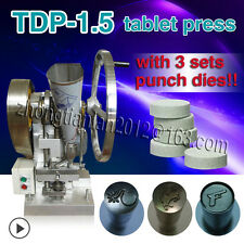 3 punch dies mold,Single Punch Tablet Press pressing Pill Maker Machine TDP-1.5