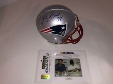 New England Patriots Tedy Bruschi Signed Autographed Mini Helmet Gridiron Auth