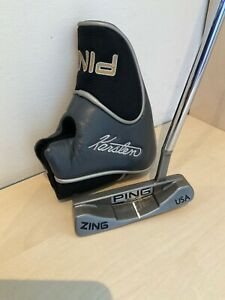 """LH PING ZING 34"""" Blade Putter & Cover; VERY GOOD"""