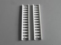 Lego - 2 x White Ladder - 14x2.5 Studs (4207)