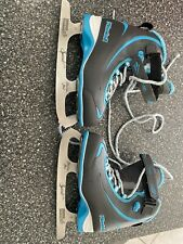 Riedell 615 Soar / Kids Beginner/Soft Figure Ice Skates / Color: Gray and Blue