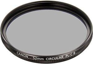New CANON Circular Polarizing Filter 52mm  PL-C B 52mm Screw-in Filter