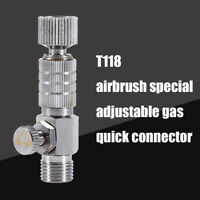 "1/8"" Airbrush Fittings Quick Release Adapter Disconnect Coupler Adjustment Parts"