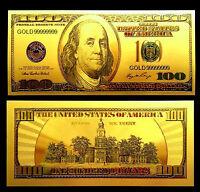 """★★ BILLET POLYMER  """" OR """" DU 100 DOLLARS USA ● DESTOCKAGE ★★"""