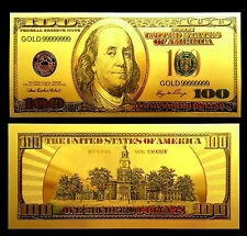 "★★★ BILLET POLYMER  "" OR "" DU 100 DOLLARS USA ● DESTOCKAGE ★★ REF1"