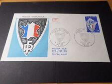 FRANCE 1976, FDC 1° JOUR, POLICE NATIONALE, DRAPEAU, FLAG