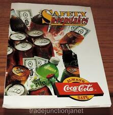 VINTAGE 1994 ALWAYS COCA~COLA SAFE SAFETY SWEEPSTAKES COLLECTIONS CATALOG w/FORM