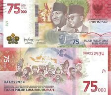 Indonesia 75000 Rupiah (2020) - 75th Anniversary of Independence, p- New UNC
