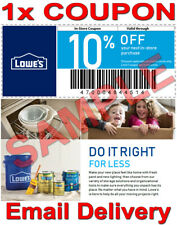 1× Lowes 10% OFF FAST DELIVERY DISCOUNT INSTORECOUPONS ONLY 𝐄𝐗𝐏 𝟕/𝟏𝟎