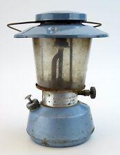 Wards Western Field Lantern Blue Double Mantle Model 60-9528 Pyrex Glass Vtg