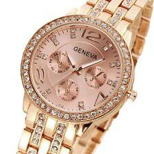New Women's Fashion Stainless Steel Bracelet Crystal Analog Quartz Wrist Watch