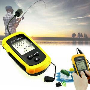 Portable Sea Fish Finder Fishfinder Sonar Sensor Depth Echo Transducer Alarm