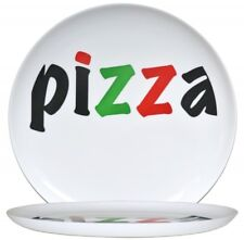 2 Pizzateller Opalglas 32,5cm