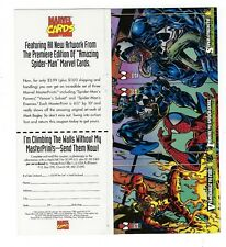 1994  Spider Man Marvel trading cards 1st Edition uncut 3 card PROMO sheet.VENOM