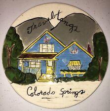 Vintage Travel Tangs Colorado Springs CO Souvenir Electric Stove Burner Cover