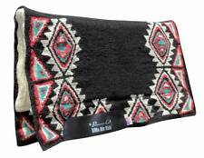 BUCKEYE Black Turquoise Professional's Choice SMx HD Air Ride Western Saddle Pad