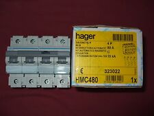 Réf HMC480 DISJONCTEUR HAGER 4P 80A COURBE C 415V 15kA 6 MODULES NEUF