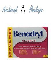 Benadryl Allergy Diphenhydramine Hydrochloride 25mg 36 Caplets Expires Mar.2019