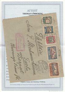 Estland, Estonia Brief von Rekvere nach Tartu 1928 mit Attest