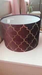 Purple Velvet Gold Moroccan Tile Lamp Light Shade Large