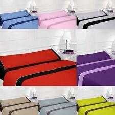 Juego de sábanas lisas en varios colores - cama 90, 105, 135, 150, 180
