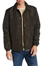 Lucky Brand Men's Faux Shearling Sherpa Jacket Army Green Size Medium New
