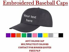Personalised Embroidered Printed Baseball Cap Custom made Work Stag Hen Birthday