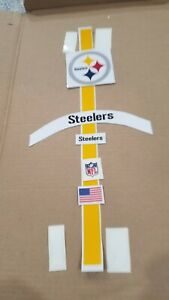 Pittsburgh Steelers Complete Football Helmet Decals Full Size w/Bumpers /Numbers