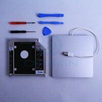 Macbook SSD Kit Pro Mac 2nd hdd Module Caddy SATA + Superdrive USB Enclosure