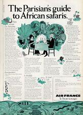 1969 Air France PRINT AD Details The Parisian's Guide to African Safaris Fun art