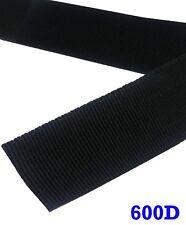 Heavy Duty PP 1/3/4/1.5/2  Inch Polypropylene 600D Webbing Black Strap 5/10 Yard