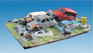 NINIVE 46H Autodemolizione deposito resina per diorama ferroviario H0 1:87