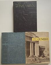 Vintage LSU Tigers Gumbo 1940, 1941, 1942 Yearbooks Louisiana State University