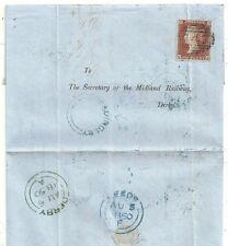 1850 Azul UDC Headingley en Leeds Carta a Midland Railway Derby benjm Brooke